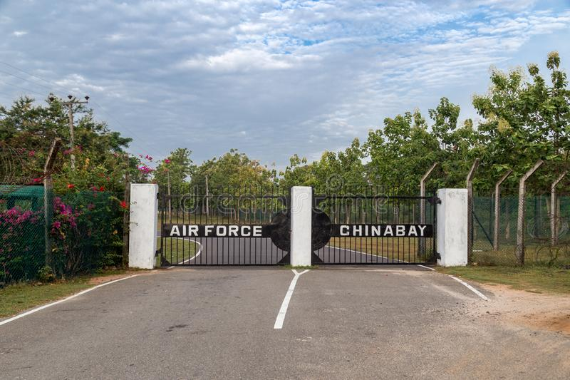 Gate to China Bay Airport in Trincomalee, Sri Lanka royalty free stock photo