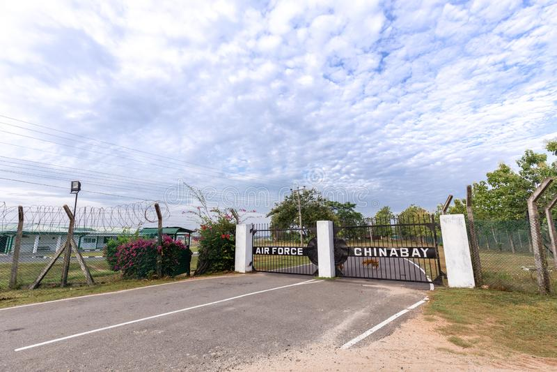 Gate to China Bay Airport in Trincomalee, Sri Lanka stock photo