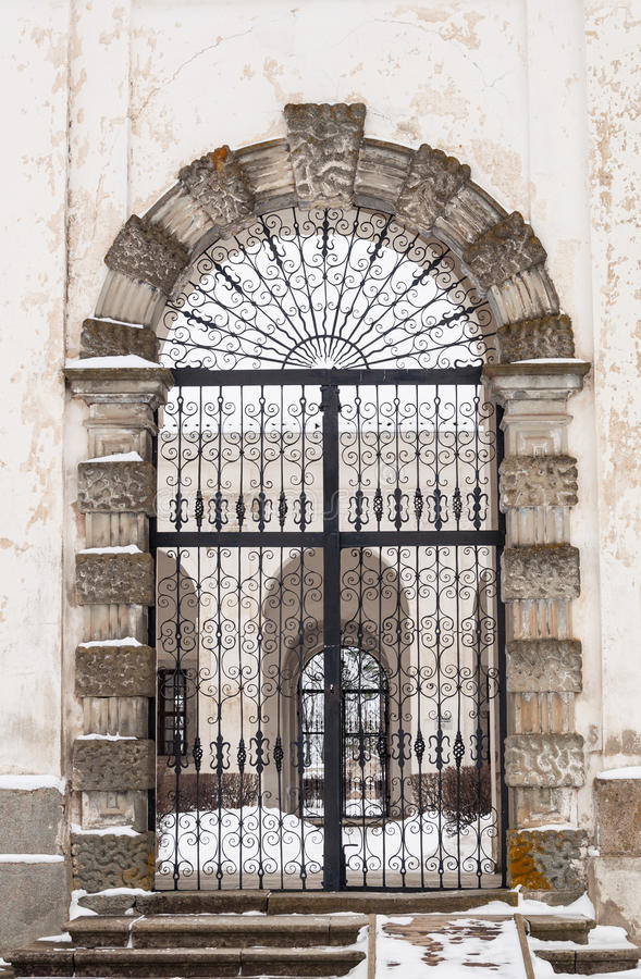 Gate to churchyard royalty free stock photos