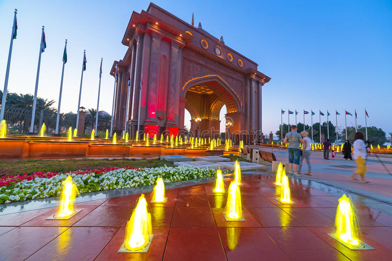 Gate To The Emirates Palace In Abu Dhabi Editorial Stock Image