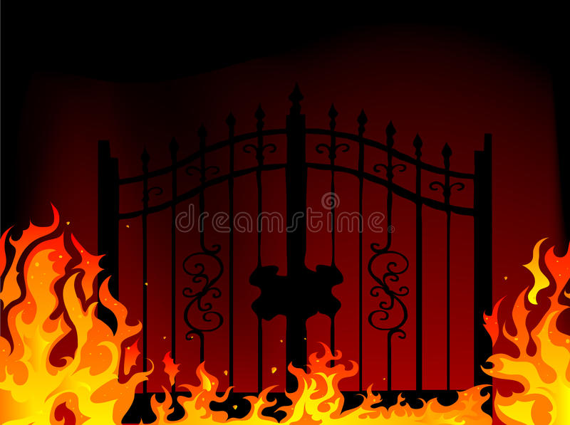 Gate to hell. Abstract illustration royalty free illustration