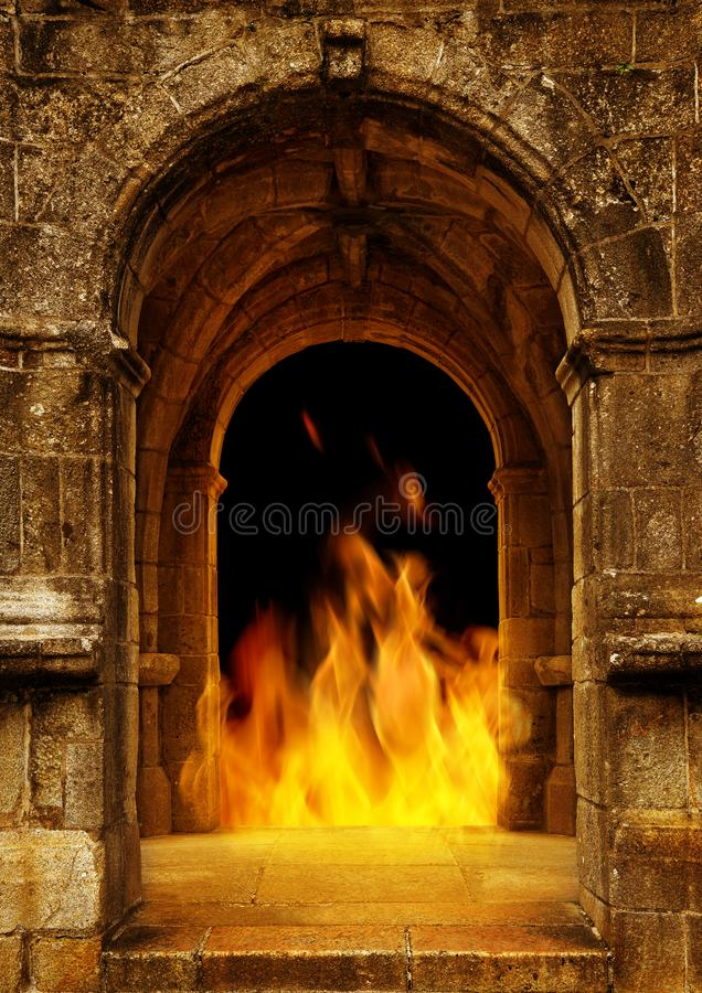Gate to hell. stock image
