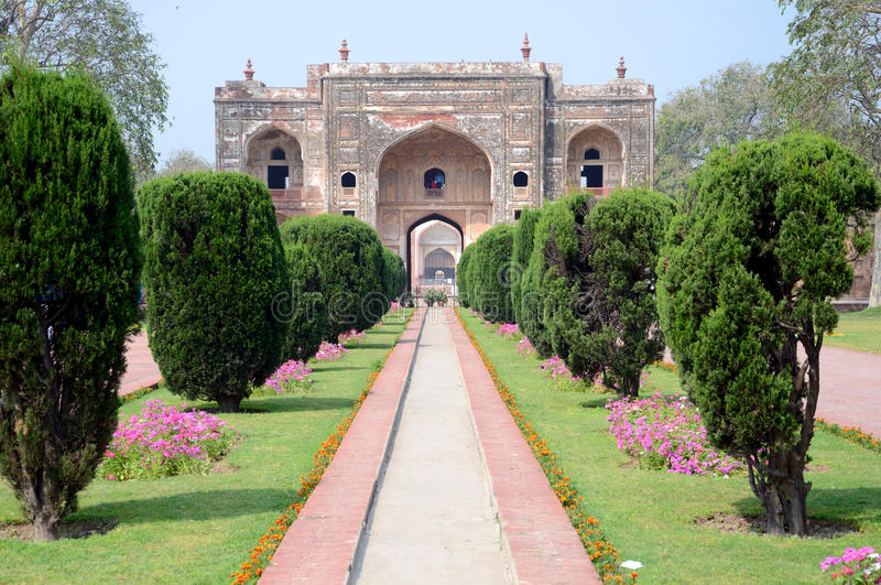 Gate to the Jehangir's Tomb royalty free stock photo