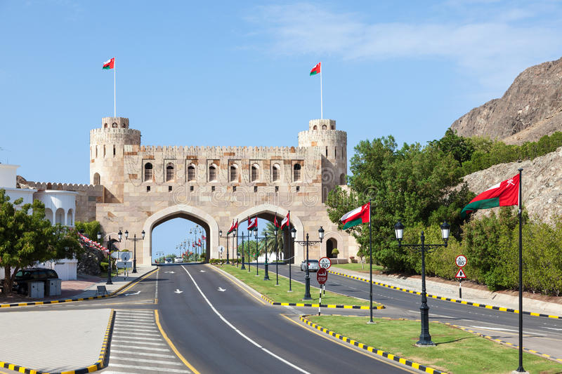 Download Gate To The Old Town Of Muscat Oman Stock Photo Image Of Museum