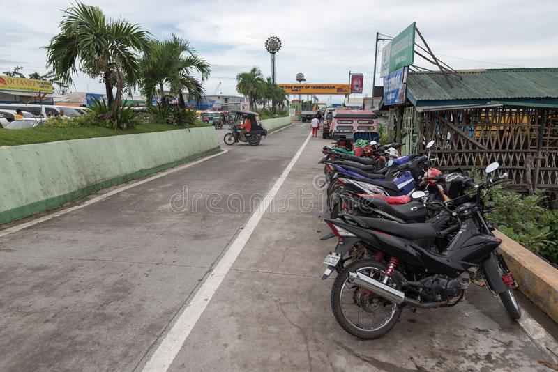 BOHOL, PHILIPPINES - FEBRUARY 14, 2018: Gate to the port of Tagbilaran in Philippines, Bohol Island. Gate to the port of Tagbilaran in Philippines, Bohol Island royalty free stock images