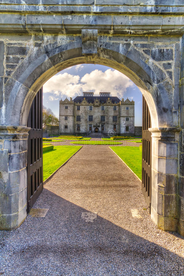 Gate To Portumna Castle In Co. Galway Stock Photography