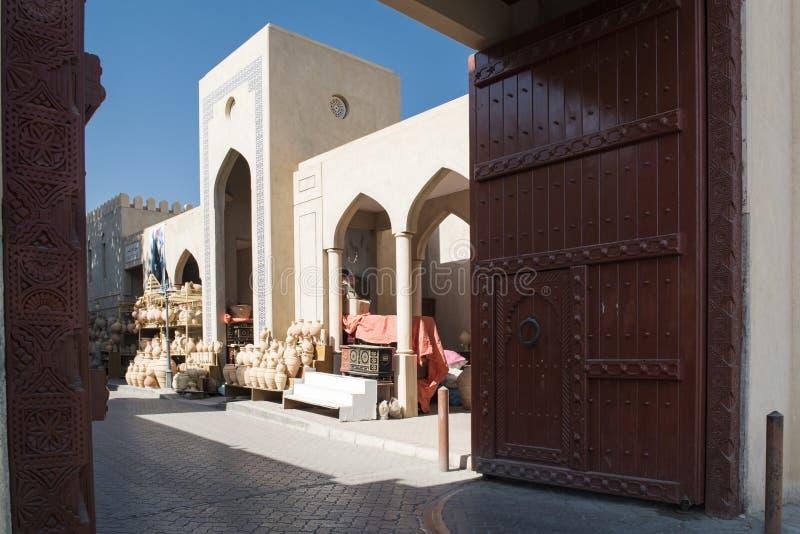 Gate to the souk, Nizwa, Oman royalty free stock photos