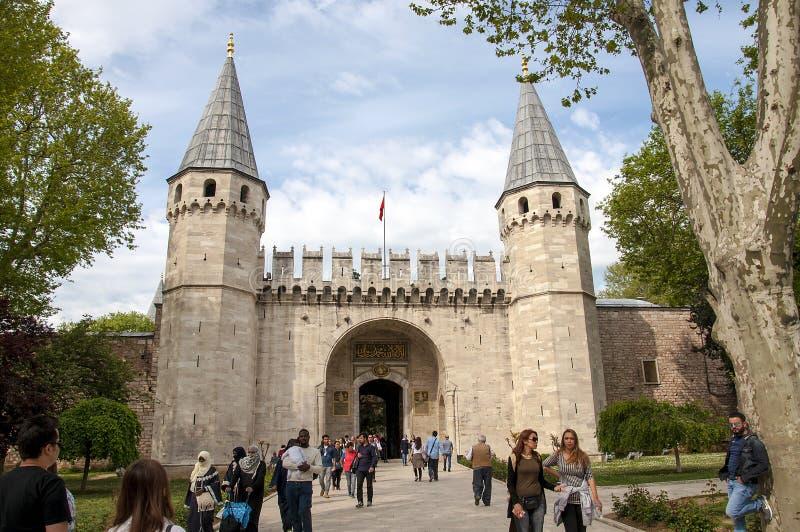 Gate of Topkapi Palace stock image