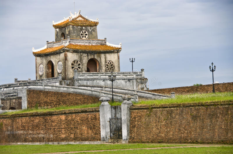 Gate tower in the Citadel wall, Hue royalty free stock photos