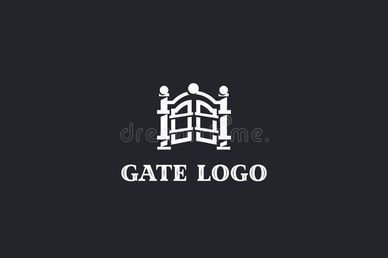 Gate vector logo EPS 10. Logo with a stylized image of the gate, editable vector file vector illustration