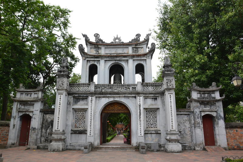 The gate in Vietnam. stock image