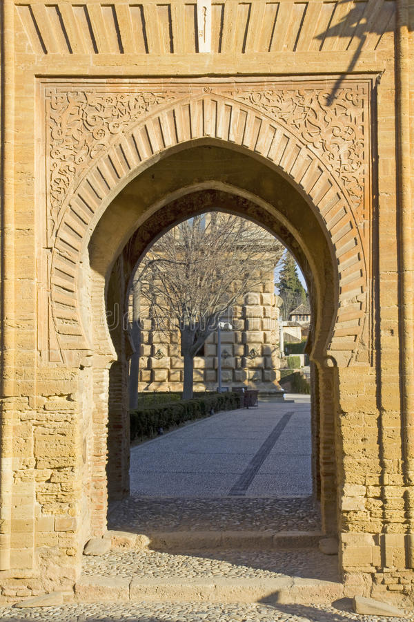 Gate of wine. Alhambra, stock photo