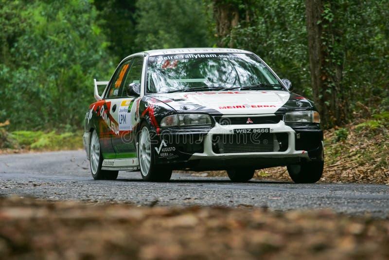 Gate7 Motorsport in Rallye Centro de Portogallo fotografia stock libera da diritti