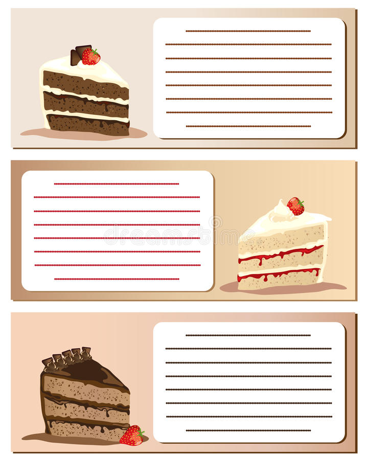 Download Gateaux notes stock illustration. Image of food, copyspace - 20698671