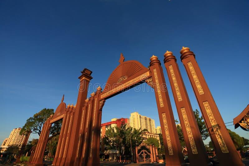 Gateaway till Kota Bharu arkivfoto