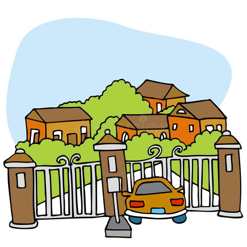 Gated Community stock illustration