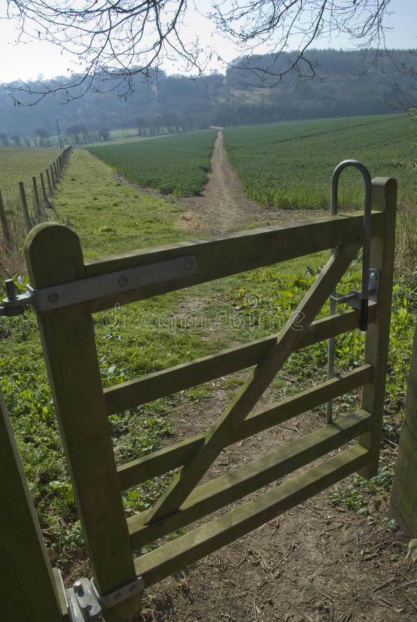 Download Gated footpath stock photo. Image of rural, pathway, path - 24416428