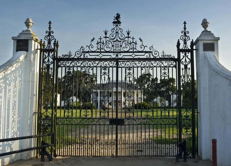 Gated Mansion stock photo