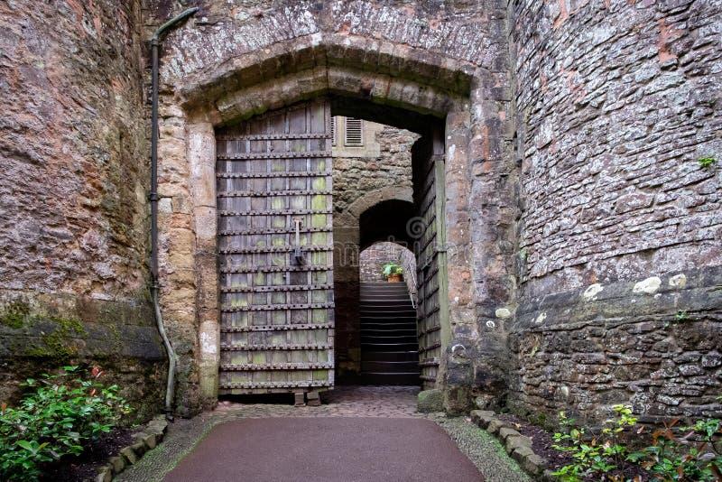 Gatehouse al castello di Dunster, Regno Unito immagini stock libere da diritti