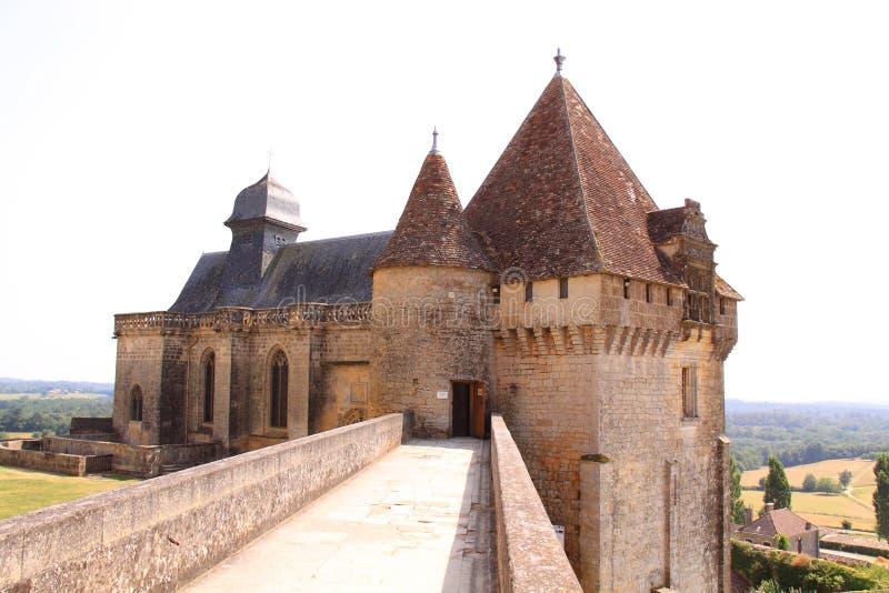 Gatehouse chateau de biron, dordogne Γαλλία στοκ φωτογραφία με δικαίωμα ελεύθερης χρήσης