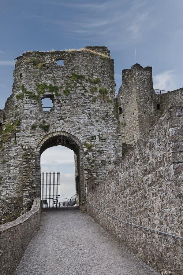 Gatehouse de château de garniture photographie stock libre de droits