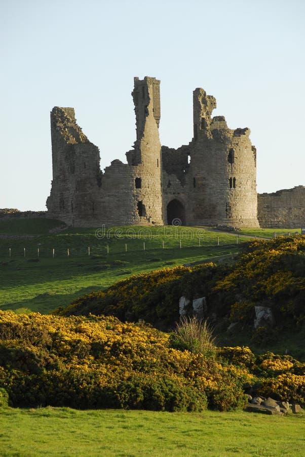 Gatehouse del castello di Dunstanburgh fotografie stock libere da diritti