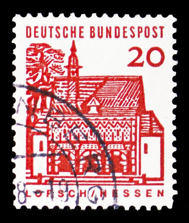Gatehouse di Lorsch, Assia, costruzioni tedesche da un serie da dodici secoli, circa 1965 immagine stock libera da diritti