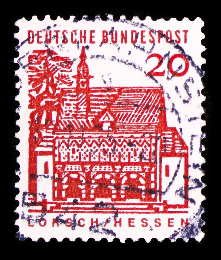 Gatehouse di Lorsch, Assia, costruzioni tedesche da un serie da dodici secoli, circa 1965 fotografia stock libera da diritti