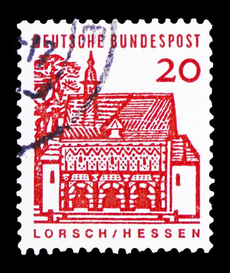 Gatehouse di Lorsch, Assia, costruzioni tedesche da un serie da dodici secoli, circa 1965 immagine stock