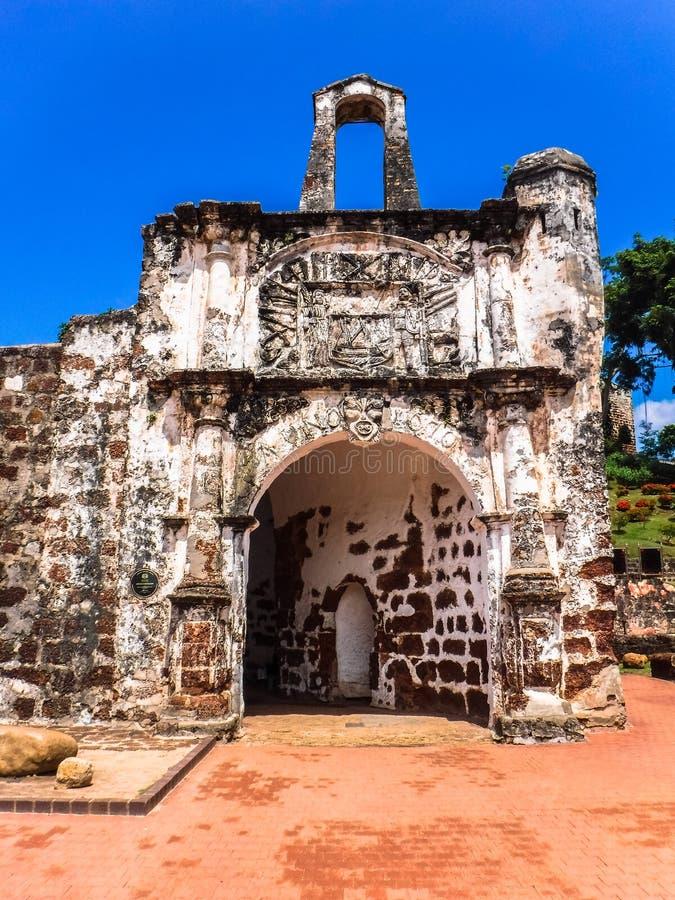 Gatehouse imbiancato della fortificazione di A'Famosa fotografie stock libere da diritti