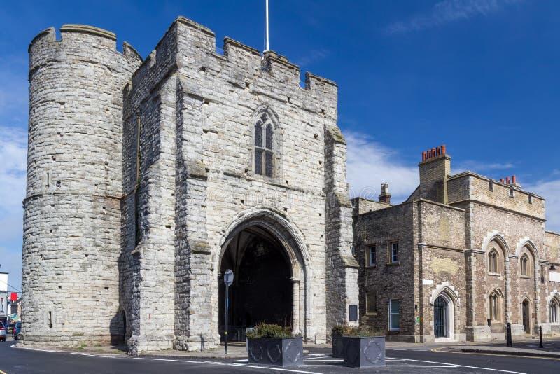 Gatehouse medieval Kent de Westgate foto de stock