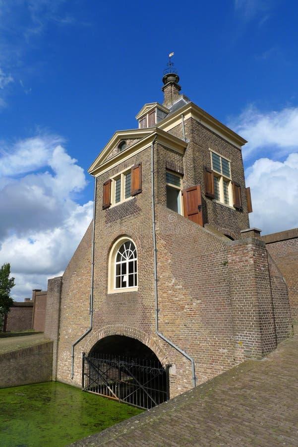 Gatehouse van Kruithuis in Delft, Holland royalty-vrije stock afbeeldingen
