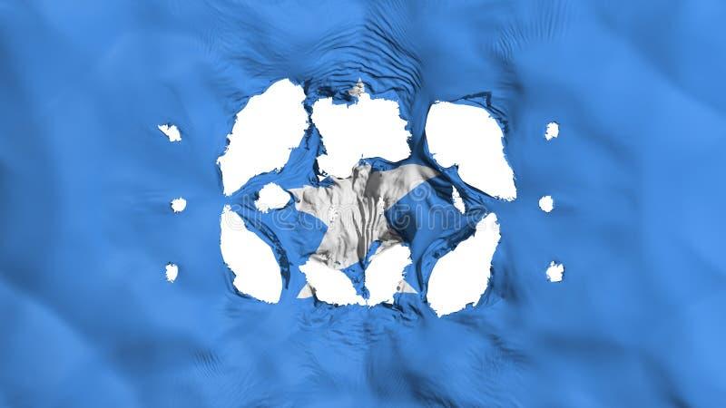 Gaten in de vlag van Somalië royalty-vrije illustratie