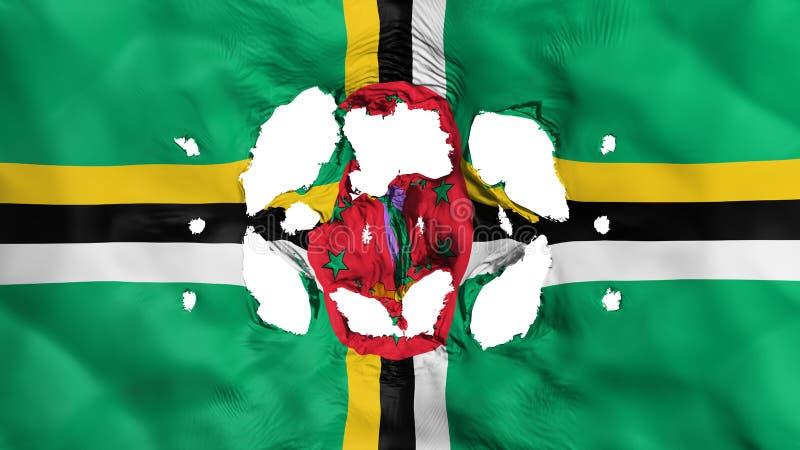 Gaten in Dominica vlag stock illustratie