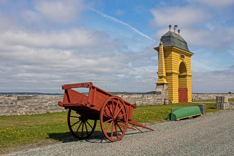 Gates On The Atlantic Ocean At The Fortress Of Louisbourg stock photography