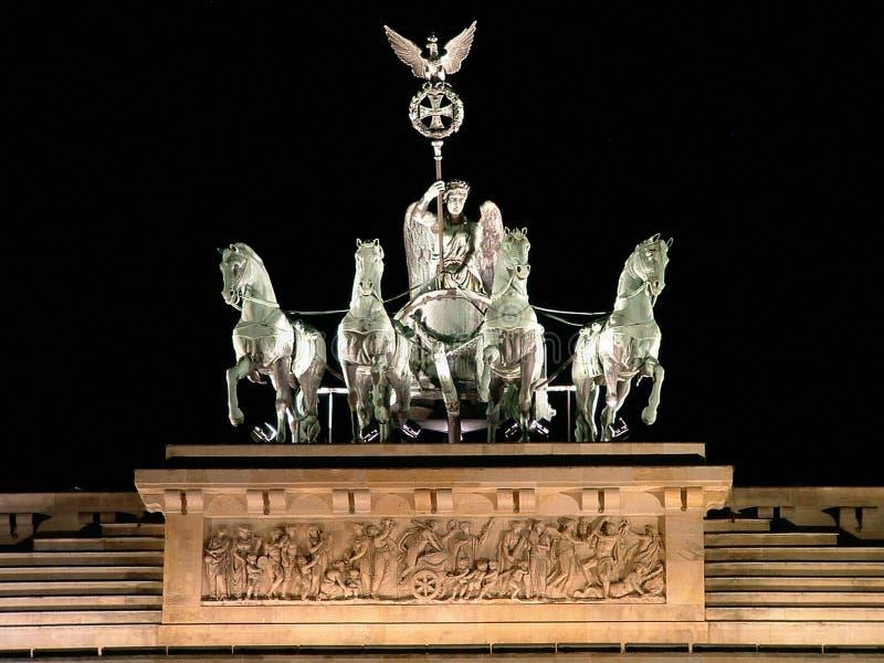 gates brandenburgii szczególną noc obrazy royalty free