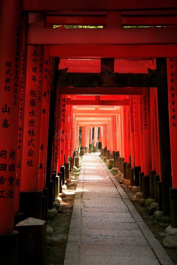 gates den inarijapan kyoto toriien royaltyfria bilder