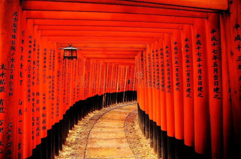 gates den japan toriien fotografering för bildbyråer