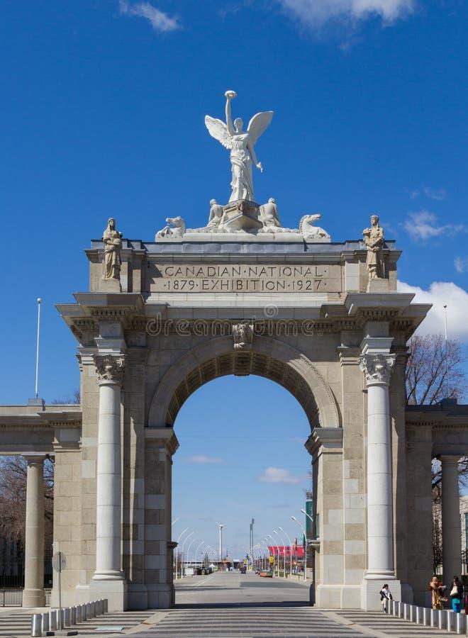 Gates Entrance王子对加拿大博览会的 库存图片
