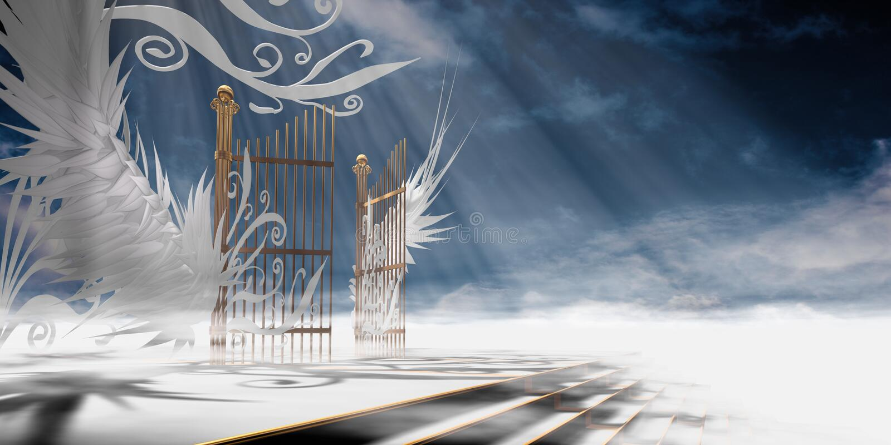 Gates of heaven royalty free stock photos