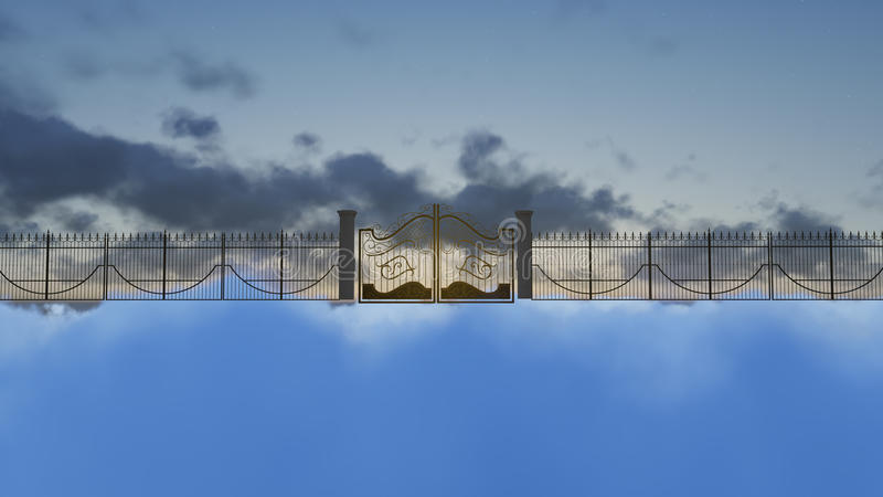 Gates of heaven stock images