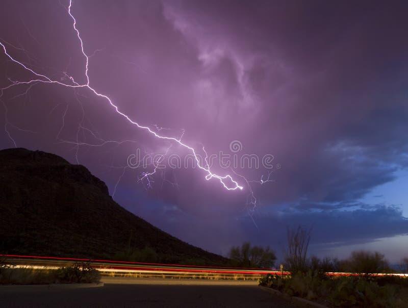 Gates Pass Lightning Stock Photography