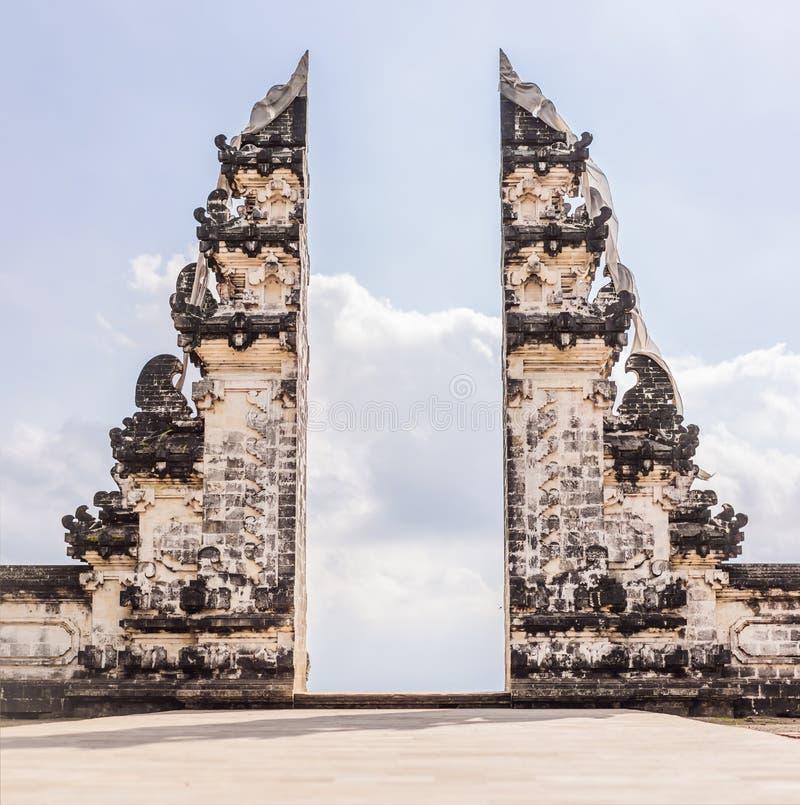 Gates in Pura Luhur Lempuyang temple Bali Indonesia royalty free stock photography