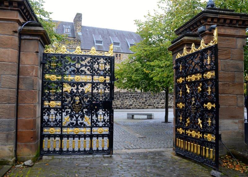 The gates to the Necropolis graveyard, Glasgow stock photos