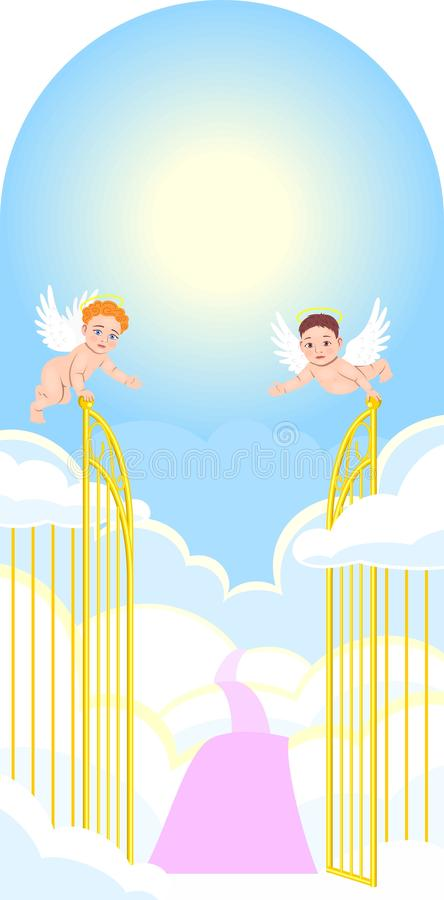 Download Gates to paradise stock vector. Image of sunshine, cloud - 14876763