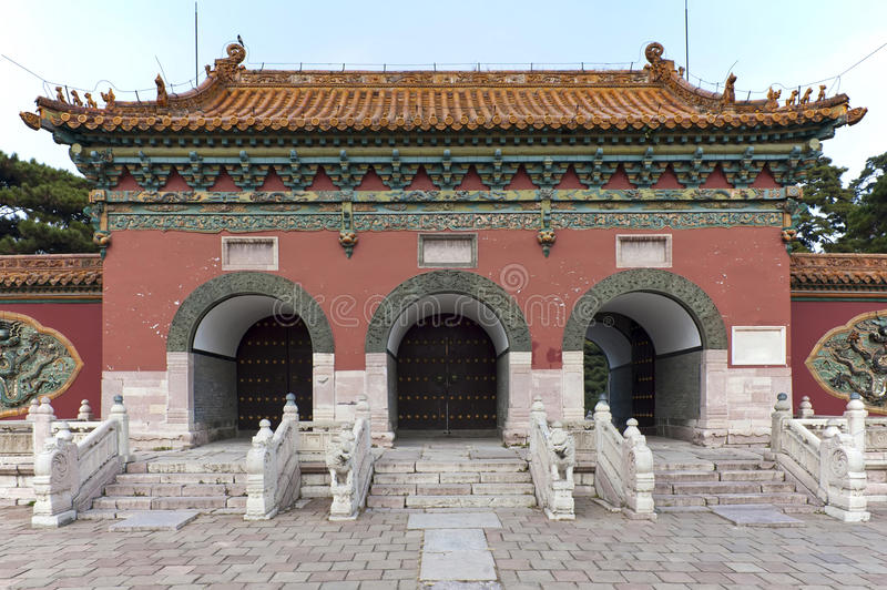 Gates to the ZhaoLing Tomb stock image