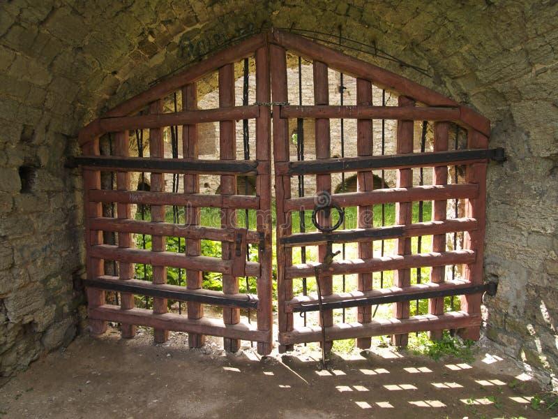 gates trä arkivbild