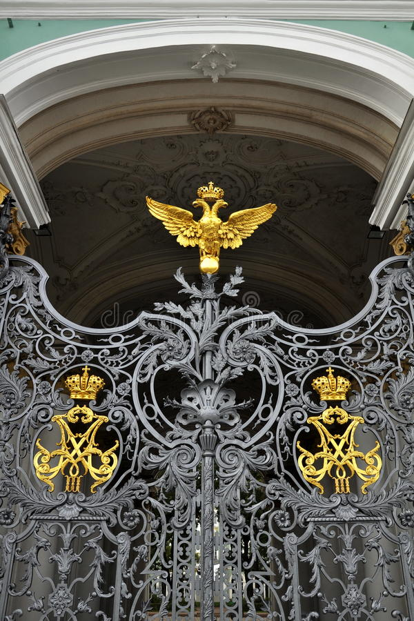 Download Gates Of Winter Palace In St.Petersburg Royalty Free Stock Images - Image: 23583059