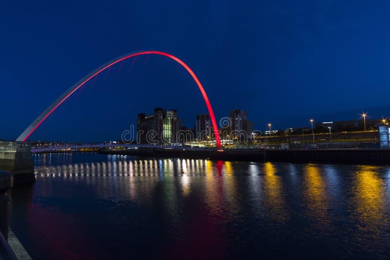 Gateshead milenium most fotografia royalty free
