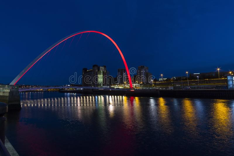 Gateshead milleniumbro royaltyfri fotografi